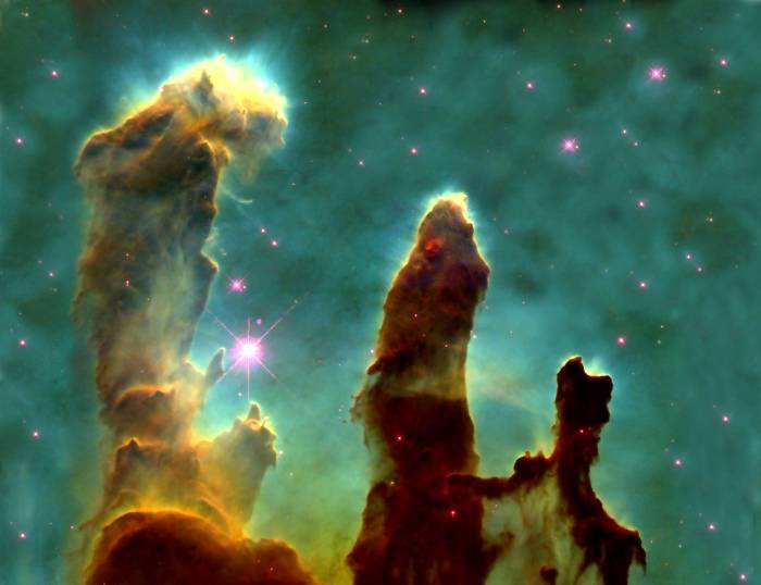 The Pillars of Creation by Hubble telescope