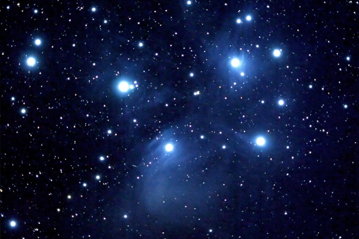 M45 Pleiades Star cluster in the constellation Taurus