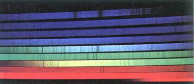 Fraunhofer lines in the solar spectrum