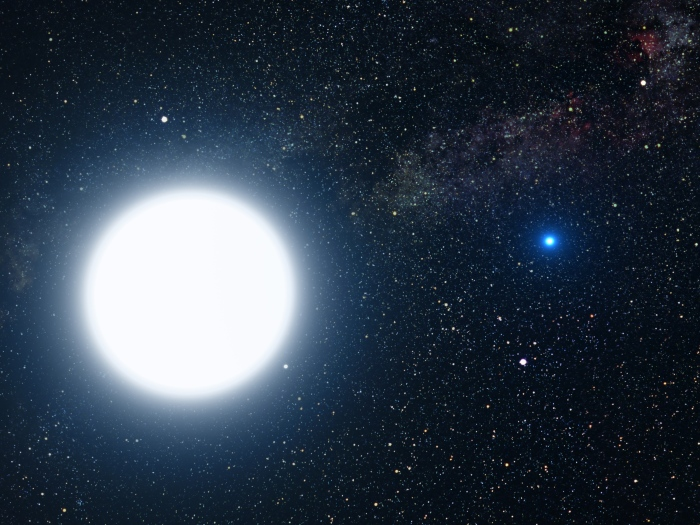 Binary stars Sirius A and B
