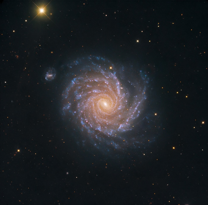 Image of a spiral galaxy in Eridanus.
